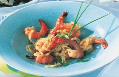 Grilled Caramelised White Prawns